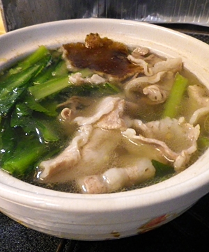 小松菜豚肉鍋