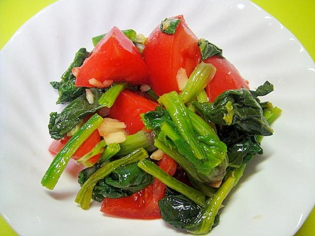ほうれん草とトマトの生姜酢醤油酢和えの写真