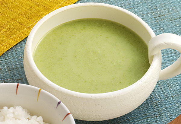 グリーンピースのポタージュ風みそ汁