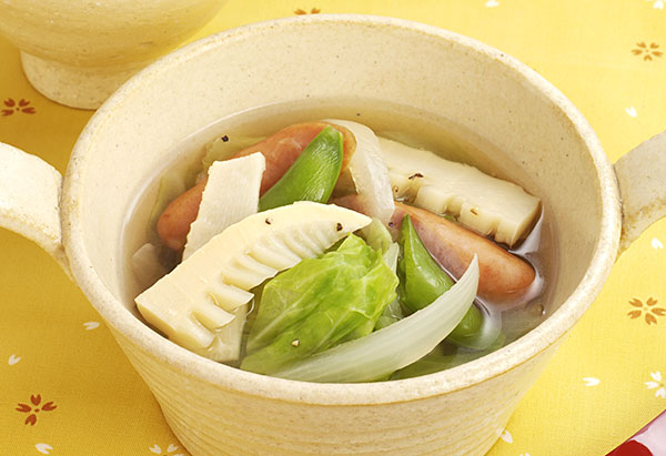 季節きゃべつのスープ