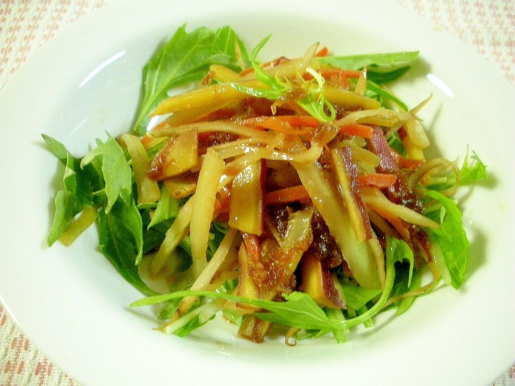 ☆さつま芋の皮の炒めサラダ風☆