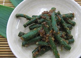 静岡県「十六豇豆(じゅうろくささげ)のごま酢みそ和え」JAみっかび