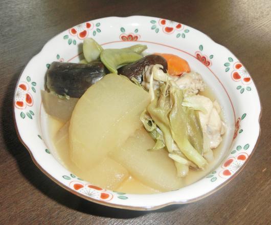 富山県「かもり(冬瓜)と夏野菜の煮物」なのはな女性部