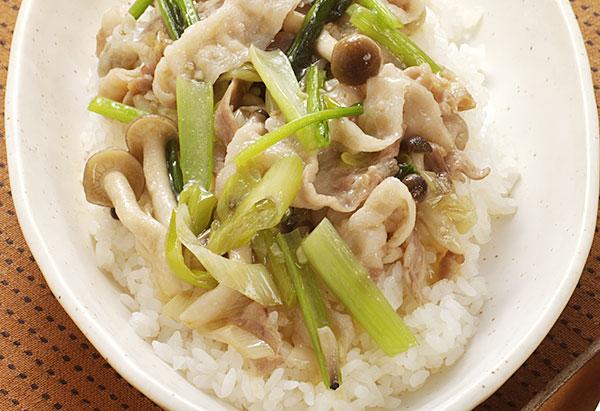 小松菜としめじたっぷり中華飯