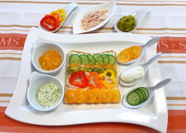 宮崎の野菜・果物で作るからだグッドサンド!