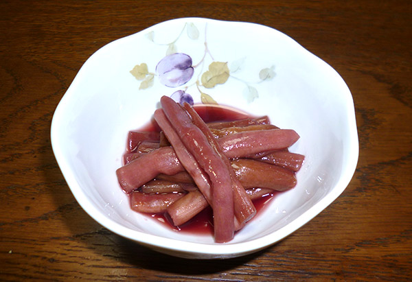 石川県「赤ずいきの酢の物」JA内浦町女性部