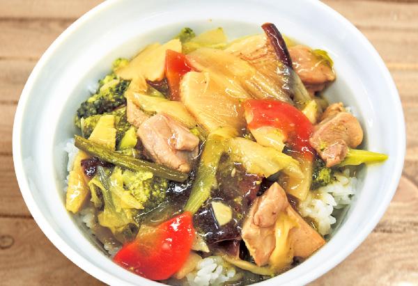 沖縄県「野菜チキンあんかけ丼」JAおきなわ女性部