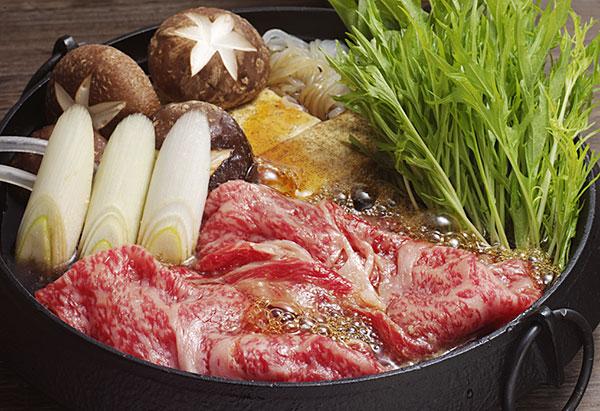 水菜たっぷりすき焼き鍋