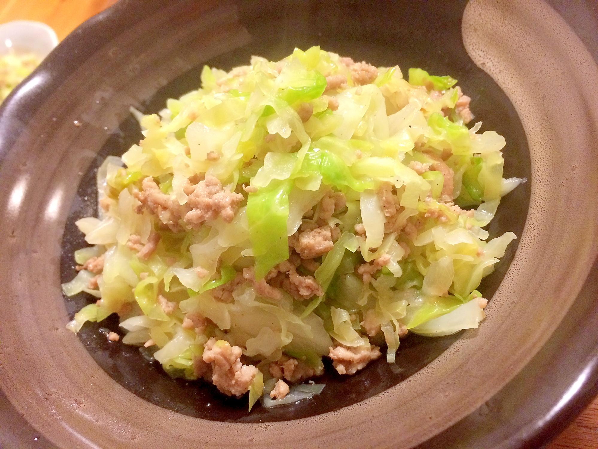 ☆キャベツとひき肉炒め☆味付けは塩こしょうだけ