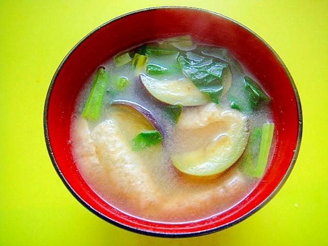 ナス の 味噌汁