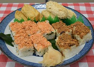 京都府「いなり寿司と鮪・しゃけの押し寿司」JA京都市女性部