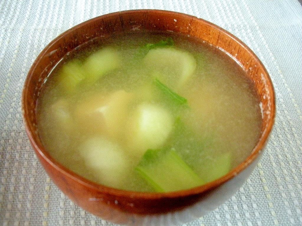 ☆豆腐とチンゲン菜の味噌汁☆